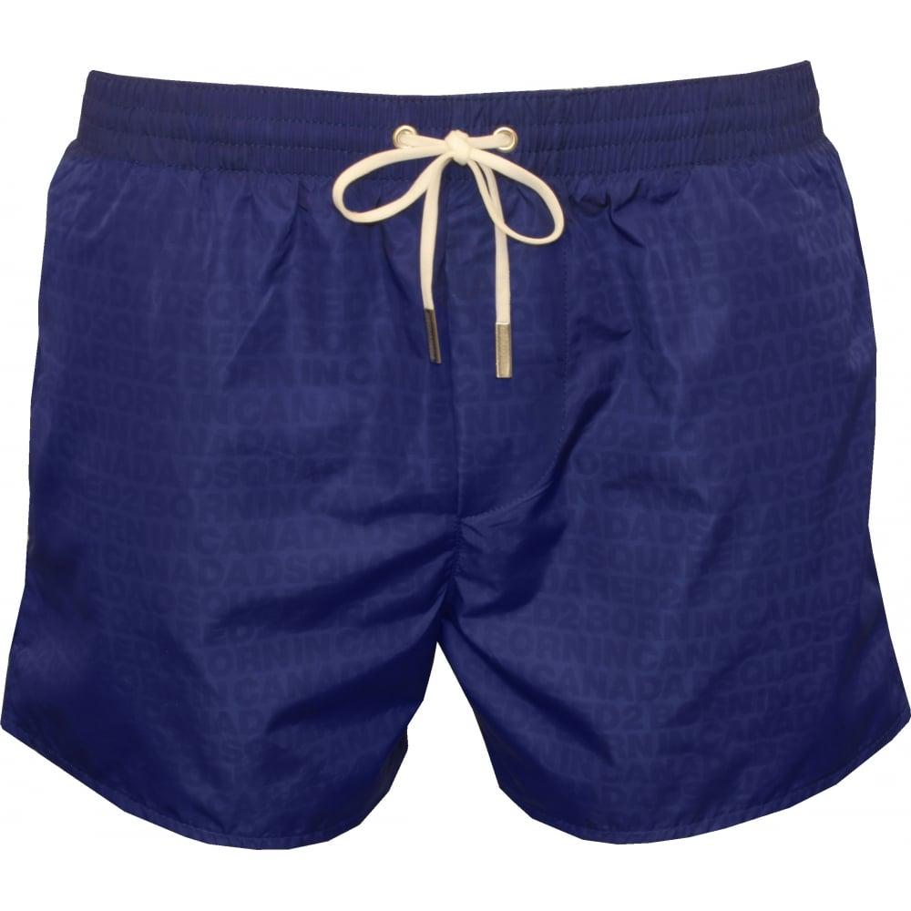 e360ba9139 DSquared2 Wet-Reveal Logo Swim Shorts, Royal Blue   UnderU
