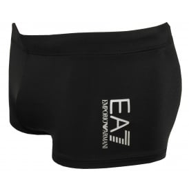 EA7 Classic Swim Trunks, Black with white