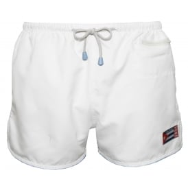 East Hampton Retro Swimming Shorts, Crystal White