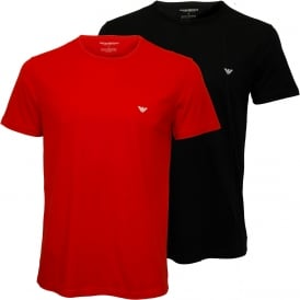 2-Pack Jersey Cotton T-Shirts, Navy/Red