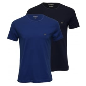 2-Pack Jersey Cotton T-Shirts, Royal Blue / Navy