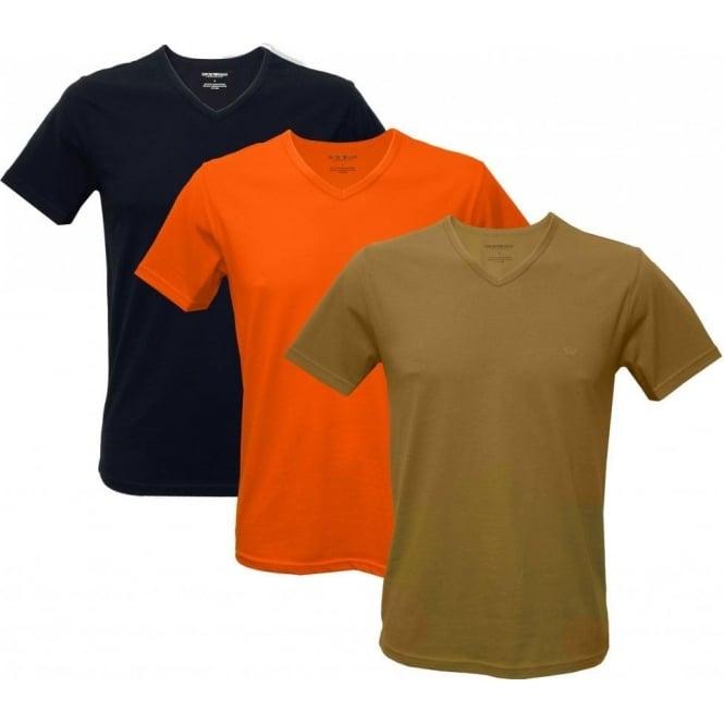 professional sale sale retailer great fit 3-Pack V-Neck T-Shirts, Navy/Bronze/Orange