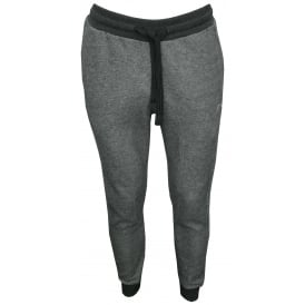 Cotton Terry Luxe Lounge Tracksuit Trousers, Grey Melange with silver logo
