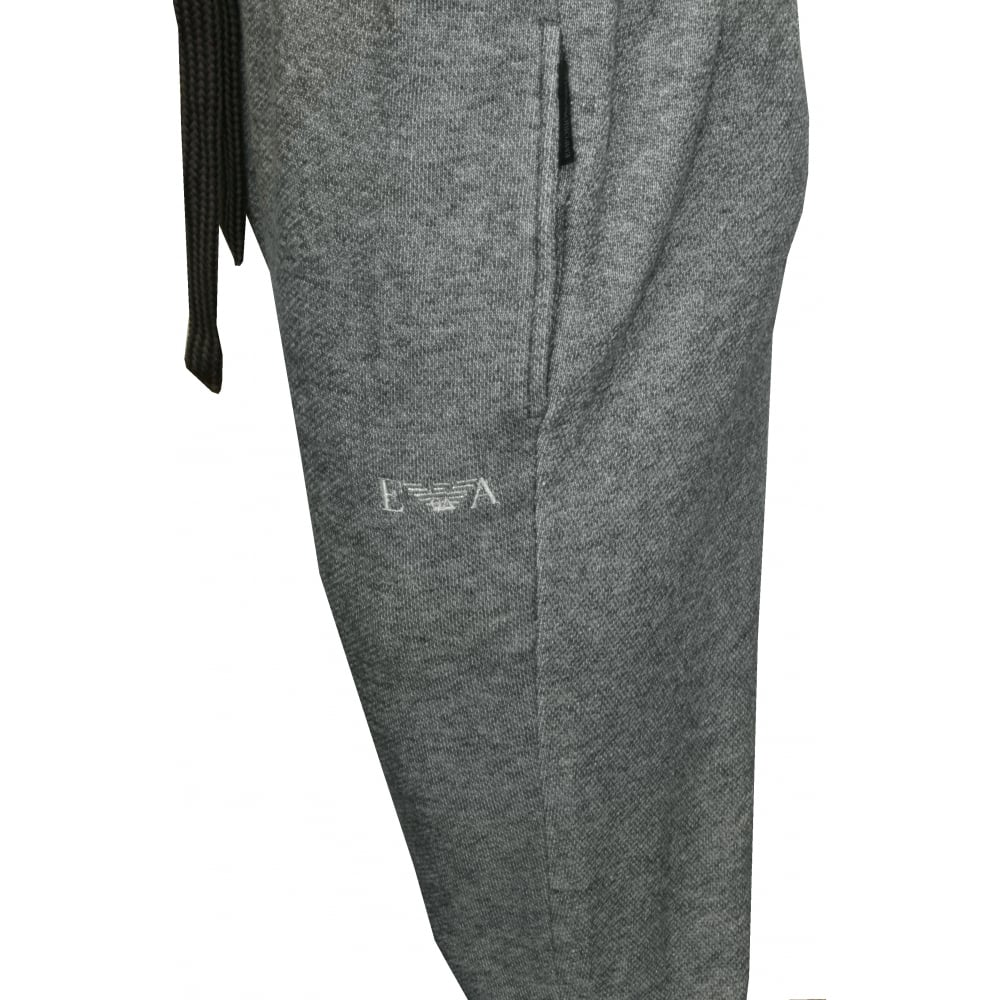 beauty hot products wide varieties Cotton Terry Luxe Lounge Tracksuit Trousers, Grey Melange with silver logo