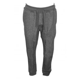 Cotton Terry Tracksuit Trousers, Dark Grey Melange