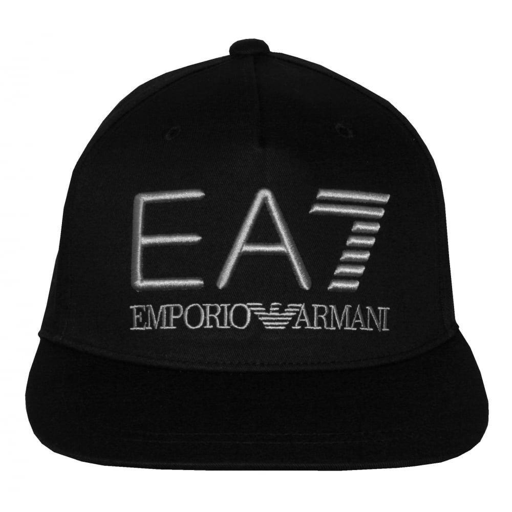 63656310 Emporio Armani EA7 Large Logo Baseball Cap, Black | UnderU
