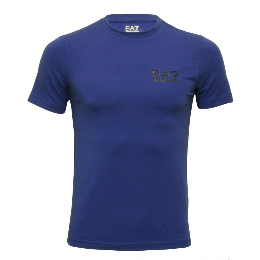Emporio armani ea7 logo crew neck beach t shirt french for French blue t shirt