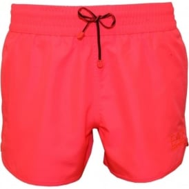 EA7 Sea World Bright Swim Shorts, Pink Fluo
