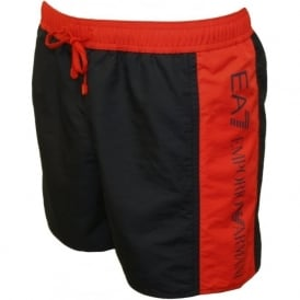 EA7 Sea World BW Bicolour Swim Shorts, Navy/Red