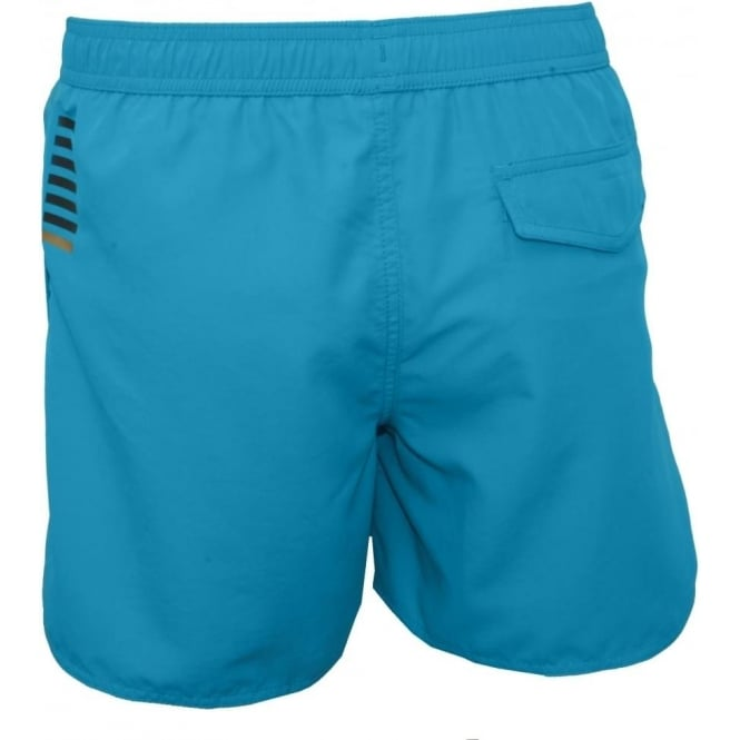 85573ced98 Emporio Armani Sea World BW Core 1 M Boxer Swim Shorts, Turquoise ...