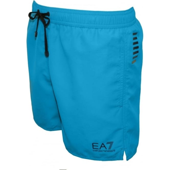3a458eba15 Emporio Armani Sea World BW Core 1 M Boxer Swim Shorts, Turquoise ...