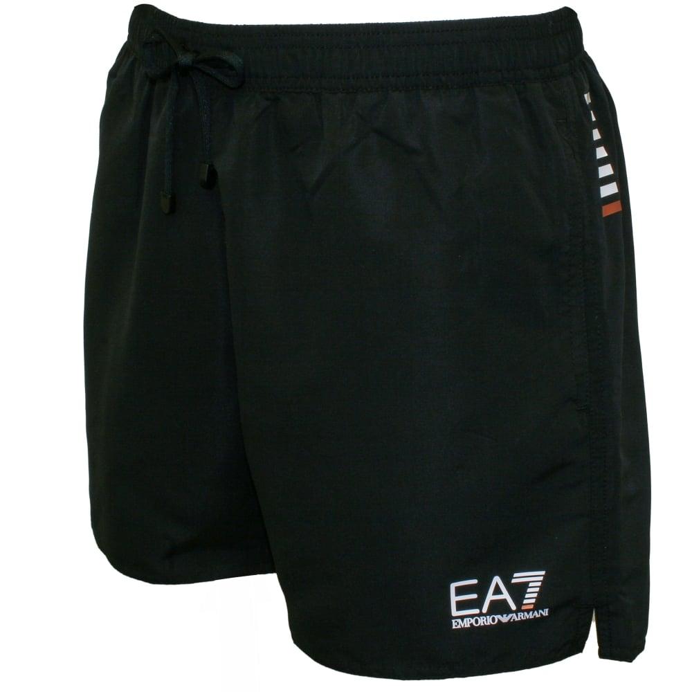 a3a845ddf6 Emporio Armani EA7 Swim Shorts, Black | Armani swim shorts | UnderU