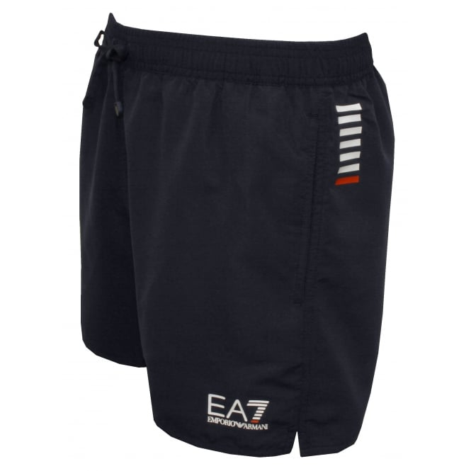 Emporio Armani EA7 Swim Shorts, Navy with white