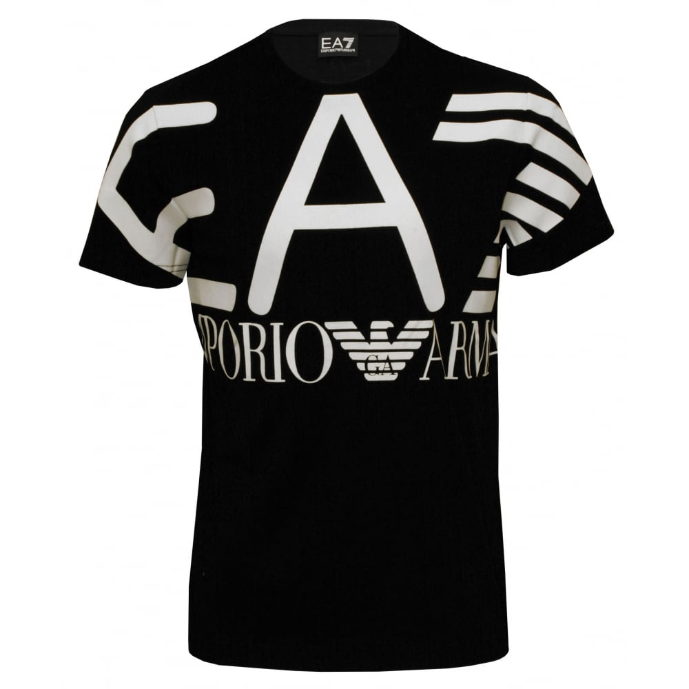 75f4d321 Emporio Armani EA7 Training Logo Series T-Shirt, Black/white | UnderU