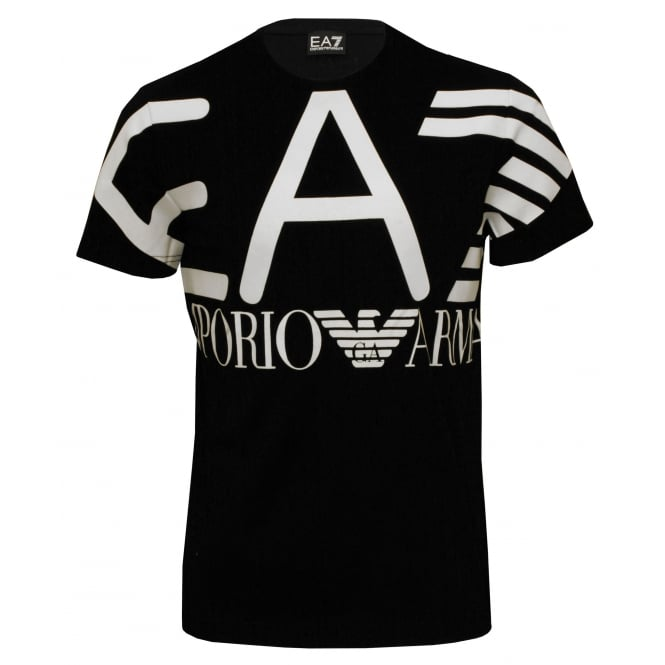Emporio Armani EA7 Training Logo Series T-Shirt, Black