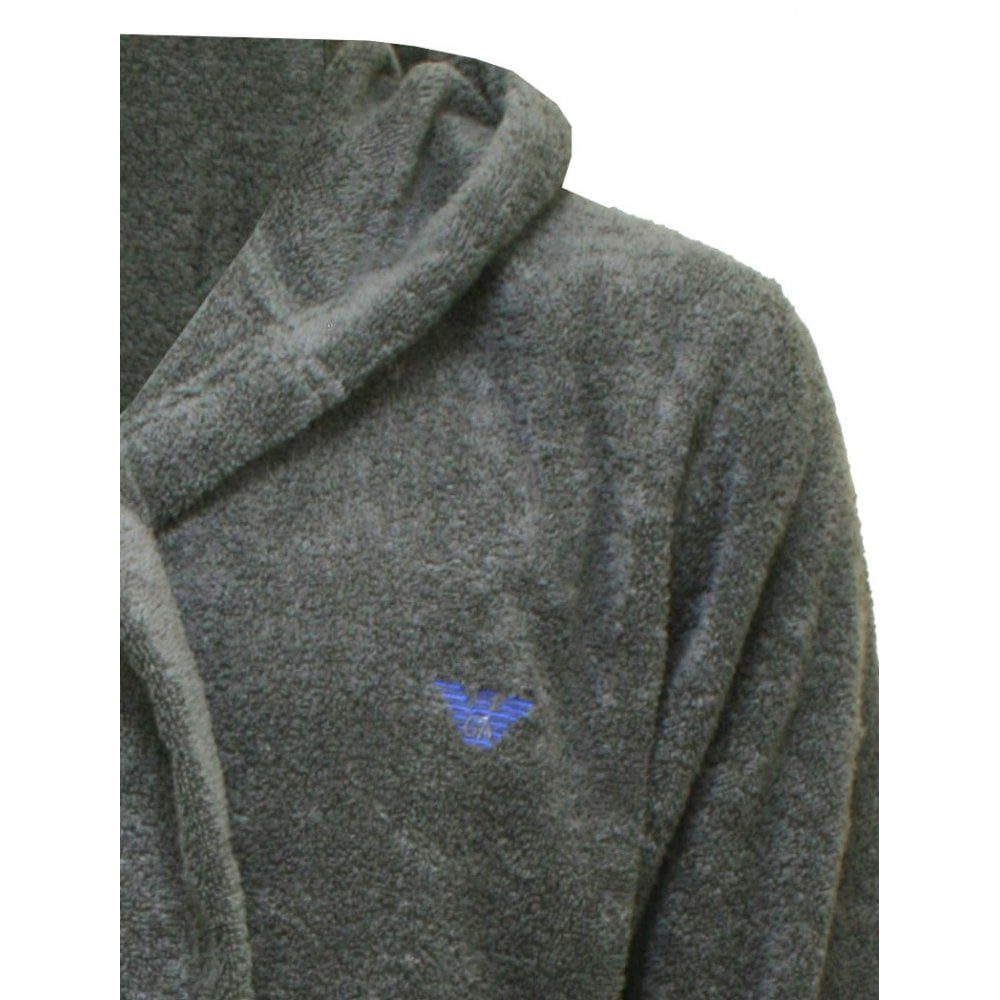 Emporio Armani Eagle Logo Cotton Hooded Bathrobe fee03fd34
