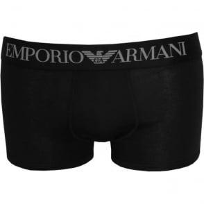 e8dbe6cff Premium Stretch Cotton Boxer Trunk, Black. Emporio Armani Premium Stretch  Cotton ...