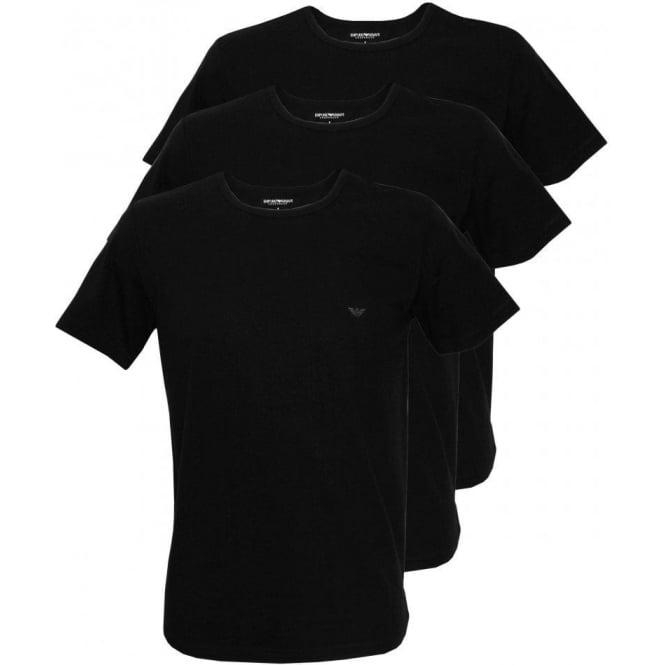 7091f928a957 Emporio Armani Pure Cotton 3-Pack Crew-Neck T-Shirts