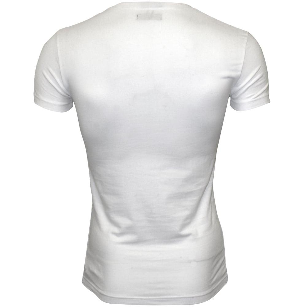 af12deb8609 Emporio Armani Logo Placement V-Neck T-Shirt