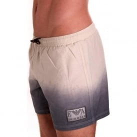 Swim Shorts with Techno Degrade Detail in Grey