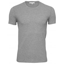 Stretch Cotton Crew-Neck T-Shirt, Grey Melange