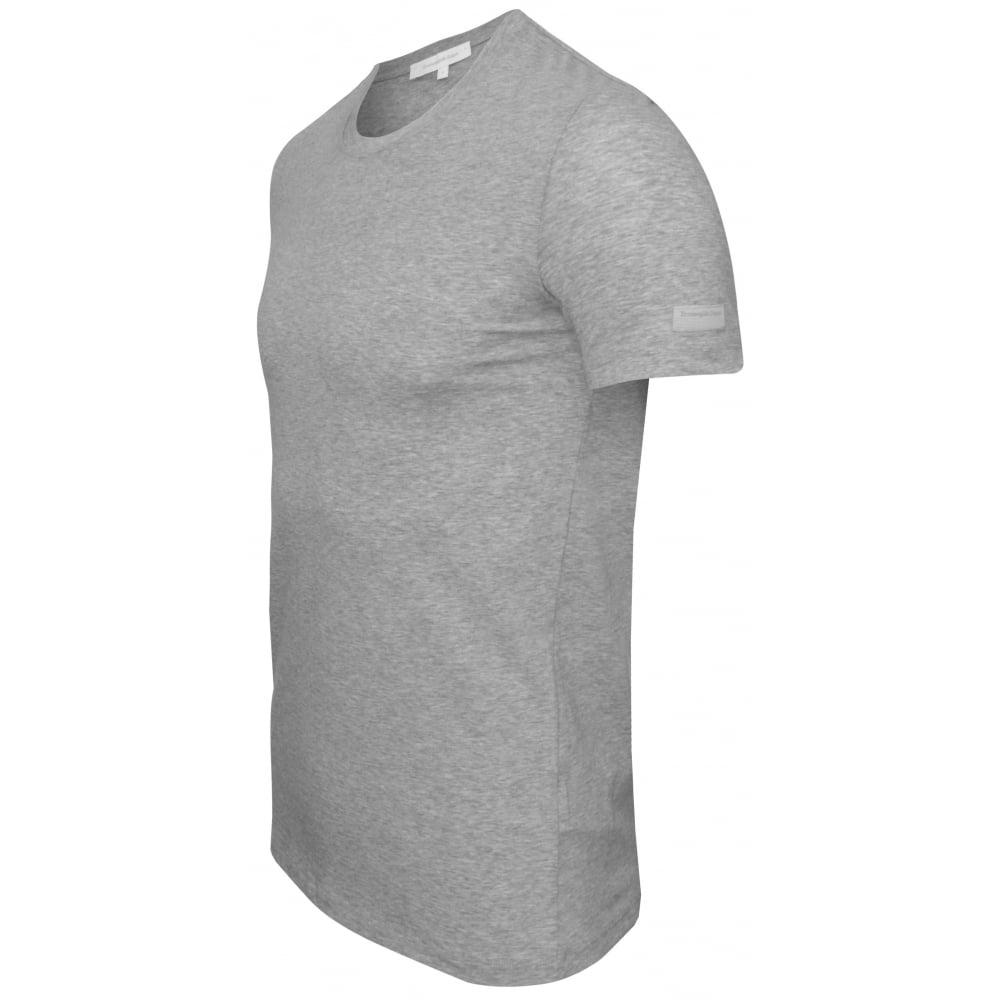 a54d081f Stretch Cotton Crew-Neck T-Shirt, Grey Melange