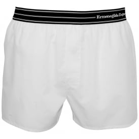 Striped Waist Boxer Short, White