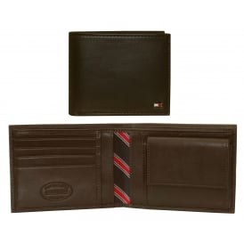 Eton Leather Credit Card & Coin-Pocket Wallet, Brown