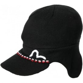 Nil Peak Beanie Hat, Black
