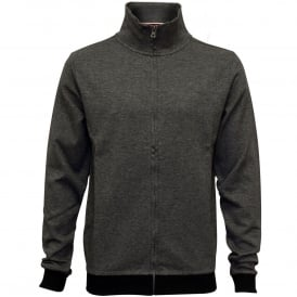 Fine Stripe Pique Cotton Jacket, Charcoal Grey