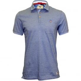 Fine Stripes Relaxed Polo Shirt, Blue