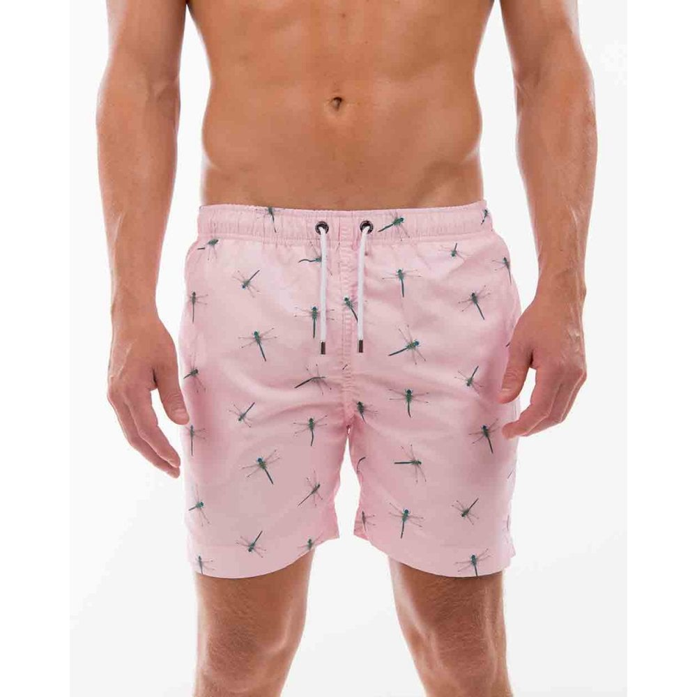 1d2573b0f341f Franks Dragonfly Print Swim Shorts, Pink | Franks swimwear | UnderU