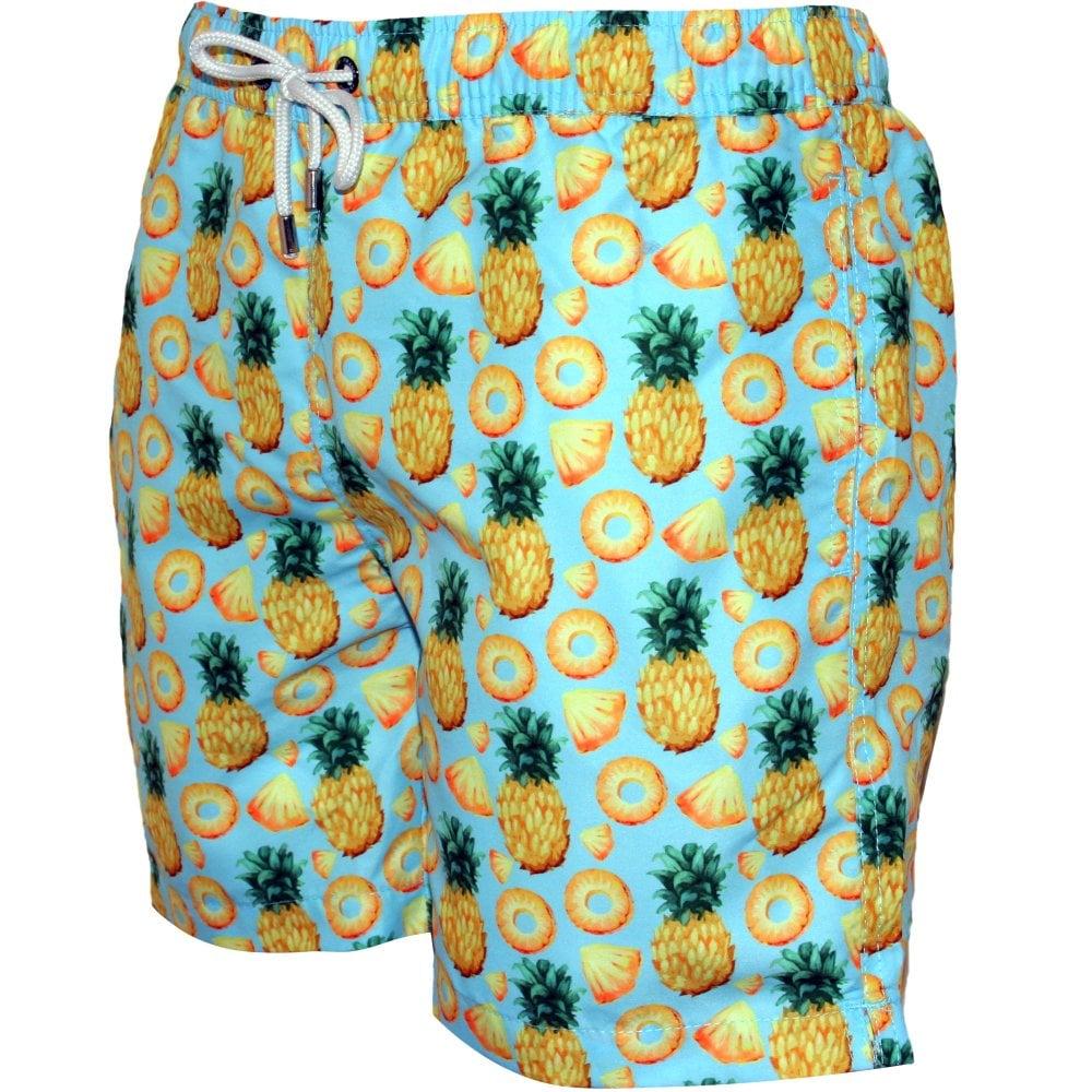 d7055752fe Franks Pineapples Print Swim Shorts, Blue | Franks swimwear | UnderU