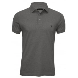 Classic Jersey Polo Shirt, Grey Melange