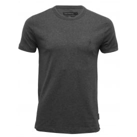 Crew-Neck Jersey T-Shirt, Grey Melange