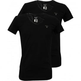 2-Pack Crew-Neck T-Shirts, Black