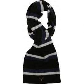 Block Striped Scarf, Blue/Navy