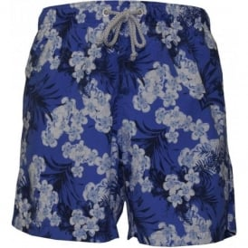 Blue Magnolia Floral Swim Shorts