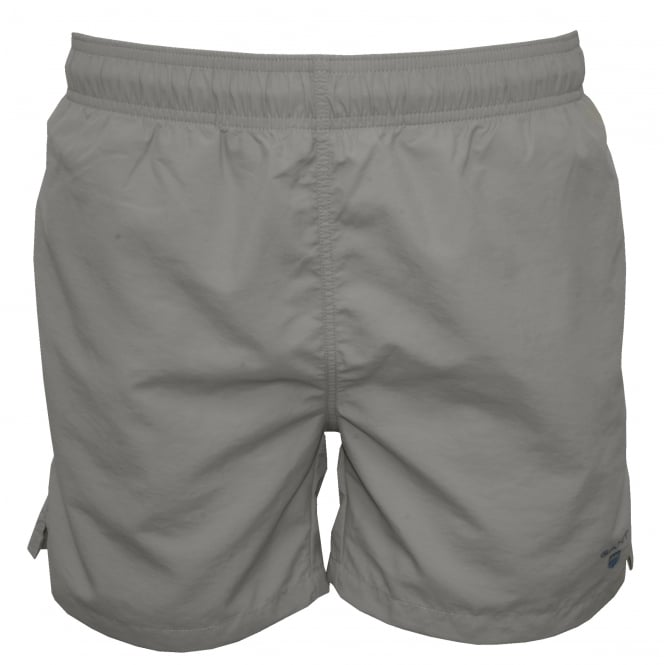 Gant Classic Swim Shorts, Grey with Blue Logo