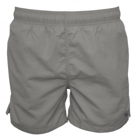 Classic Swim Shorts, Grey with Blue Logo