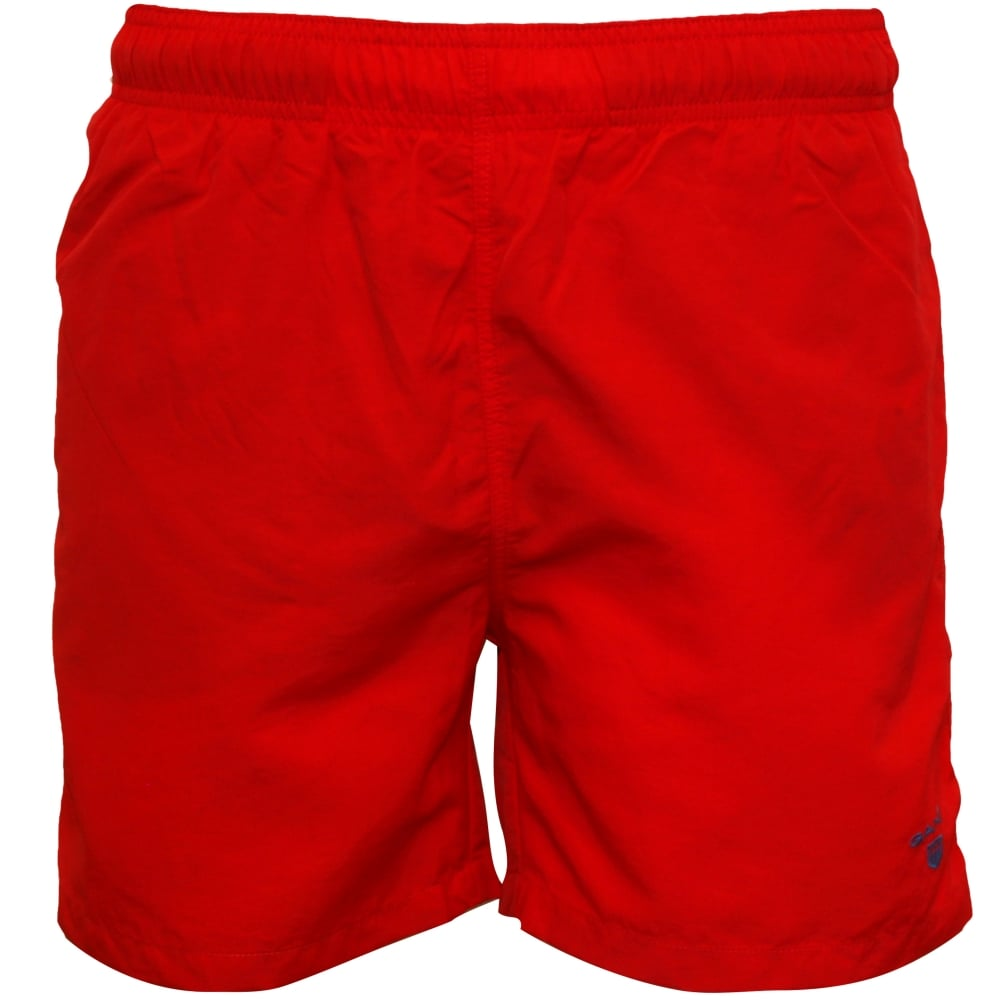 309fde207f Gant Classic Swim Shorts, Red | Gant Swim Shorts | UnderU