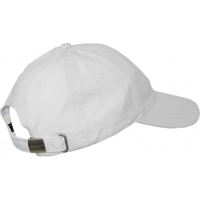 33908251 Gant Classic Twill Cap, White | UnderU