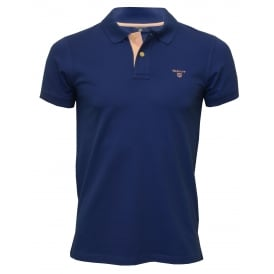 Contrast Collar Pique Rugger Polo Shirt, Yale Blue