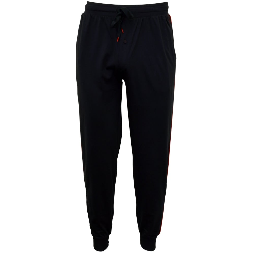 Contrast Trim Jersey Pyjama Bottoms, Navy/red