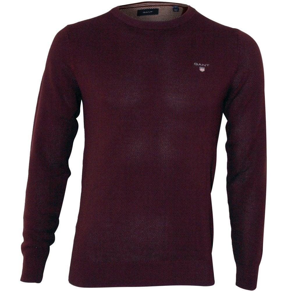 ever popular exclusive deals price Cotton Pique Crew-Neck Jumper, Port Red