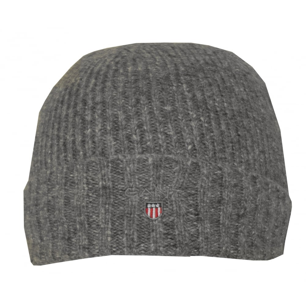 84b4010069a Gant Fleece-Lined Wool Cotton Mix Beanie Hat