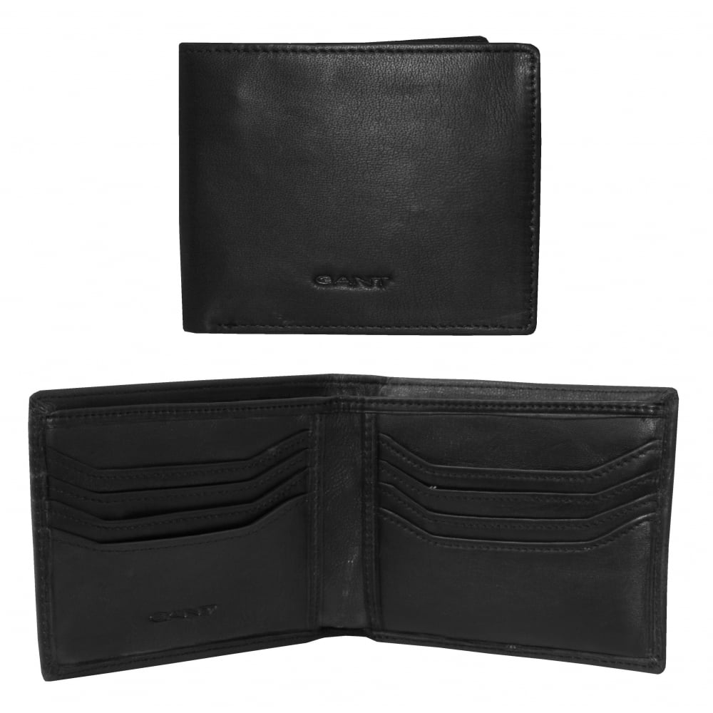 cdcd6cac76 Gant Lined Classic Leather Wallet, Black | Gant men's wallets | UnderU