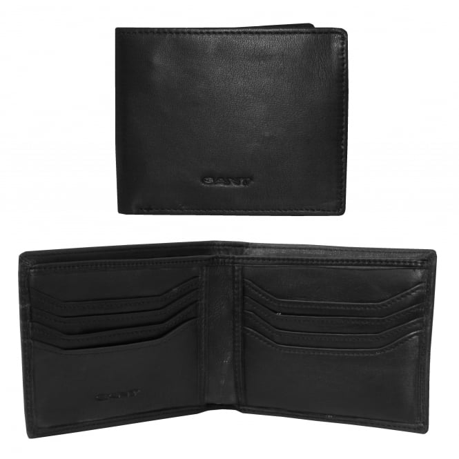 Gant Lined Classic Premium Leather Wallet, Black