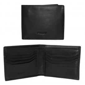 Lined Classic Premium Leather Wallet, Black