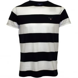 Original Bar Stripe Crew-Neck T-Shirt, Navy/White